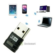 Mini AC600 Dual Band 2.4/5Ghz WiFi Wireless N USB Adapter Dongle 802.11a/b/g/n