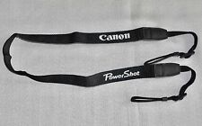 CANON POWERSHOT BLACK W 22mm GENUINE SHOULDER NECK STRAP[EMBROIDERED] FOR G16,12