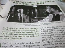 Das war die DDR Kultur Film TV For eyes only DEFA 1963