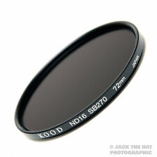 Kood Pro 72mm Neutral Density ND16 Filter (-4 Stop). Made in Japan.