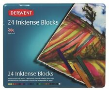 Derwent Inktense Blocks Tin Set 24 Inktense Watercolour Blocks Inktense Pastels