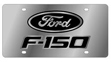 New Ford F-150 Black Logo Stainless Steel License Plate