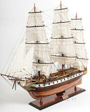 "XL USS Constellation Frigate Wooden Tall Ship Model 56"" Sloop Of War Warship New"