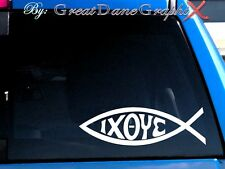 Jesus Fish IXOYE Vinyl Decal Sticker -Color Choice- HIGH QUALITY