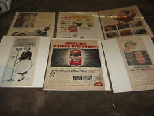 13 Large Vintage Magazine Ads - Coke, 7-Up & MANY More Products - Must See!!!!