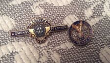 Womens Section British Legion & Friends of the RAF Association Enamel badges