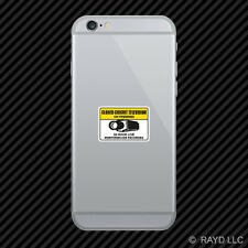 Warning CCTV Closed Circuit Television Cell Phone Sticker Mobile security
