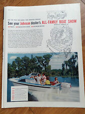 1960 Johnson Boat Motor Ad All New Johnson V-75 All Family Boat Show