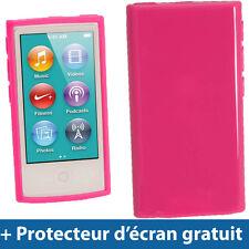 Rose Étui Housse Case TPU pour Nouveau Apple iPod Nano 7ème Génération 7G 16GB