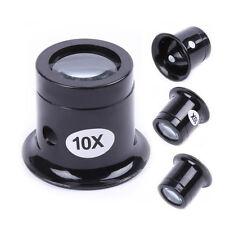 10X Watch Repair Lupe Glas Lupe Vergrößerung optische Schleife 1PC