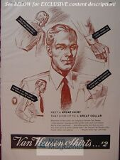 RARE Esquire Advertisement AD 1941 VAN HEUSEN Shirts!