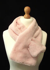 Luxurious Baby Pink Faux Fur Keyhole Wrap Snood Scarf  - So Soft!
