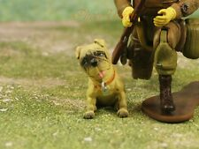 Hood Hounds Barney Tan Pug Dog 1:18 GI Joe Size Cake Topper Figure K1285 A5