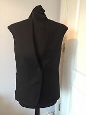 Gorgeous COS Black Wool Cap Sleeve Waistcoat Gilet Size 38 UK 12 Worn Once!