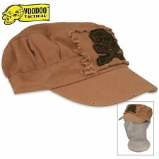 Voodoo Tactical Ranger Roll Cap Coyote Tan w/ Skull and Crossbones Jolly Roger