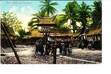 Singapore, Malay Kampong  @ 1907-10