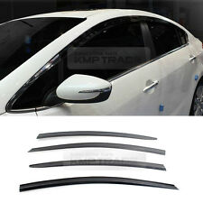 Smoke Window Vent Visors Rain Sun Guard Molding For KIA 2013-17 Forte Cerato K3