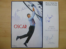 "Elmer Bernstein & Tim Curry Autogramm signed LP-Cover ""Oscar- Soundtrack"" Vinyl"