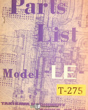 Takisawa LE, Lathe Operations and Parts Manual 1968