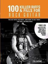 100 KILLER RIFFS AND FILL FOR ROCK GUITAR - NEW Wire-o-Bound HARDCOVER
