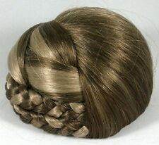 Blonde Braided Bun Based Updo Chignon Pageant Hairpiece
