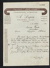 """BONSON (42) USINE de COUDES & TUYAUX """"TOLERIE FOREZIENNE / A. DUPIN"""" en 1940"""