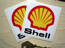 SHELL 58mm small pair RACING CAR or MOTORCYCLE STICKERS
