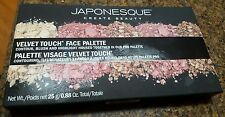 JAPONESQUE VELVET TOUCH FACE CONTOUR BLUSH HIGHLIGHT PRO PALETTE 100% AUTHENTIC