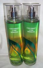 2x Coconut Lime Breeze  Fine Fragrance Mist Spray Bath and Body Works 8 oz NEW