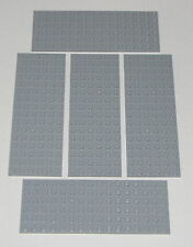 Lego Lot of 5 New Light Bluish Gray Plates 6 x 16 Dot Building Blocks