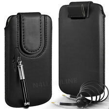 MAGNETIC PU LEATHER PULL FLIP TAB CASE COVER & 3.5MM JACK CABLE FOR NOKIA PHONES