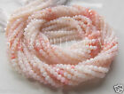 "13"" shaded light PINK PERUVIAN OPAL faceted rondelle gem stone beads 2.5mm - 3mm"