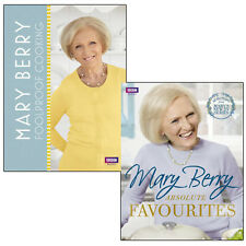 Mary Berry Collection Foolproof Cooking & Absolute Favourites 2 Books Set NEW
