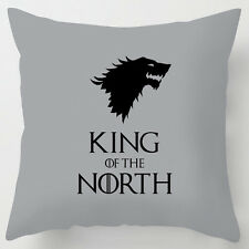 King of the North GREY game of thrones inspired cushion fathers day