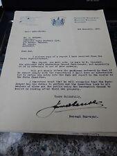 """Aldershot rufc rugby Parkie dit """"get orf que vélo"""" pré WW2 1936 lettres"""