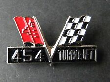 CHEVY 454 TURBO JET CHEVROLET FLAGS ENGINE AUTOMOBILE CAR EMBLEM PIN 1.1 inches