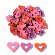 Edible Confetti Sprinkles Cookie Cake Cupcake Valentines HEARTS WITH HOLES 8 oz.