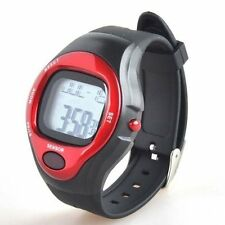 SSG NEW Red Black Water Resistant Sport Heart Rate Monitor Calorie Counter Watch