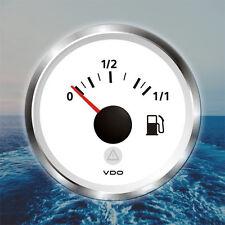 """VDO Viewline Fuel Level Marine Gauge Boat 52mm 2"""" 12/24V White A2C59514185"""