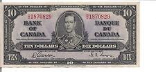 CANADA, $10 ,KGVI, 1937