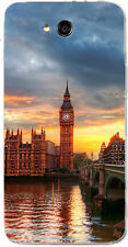 CUSTODIA COVER CASE BIG BEN LONDRA LONDON TRAMONTO CIELO MARE PER LG L90 D405N