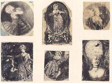 Max Mayrshofer, Rokoko, 6 Zeichnungen, Kreide / Bleistift, 1908