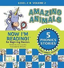 Amazing Animals LEVEL 2 VOLUME 2 Nora Gaydos NEW Phonics LONG VOWEL SOUNDS