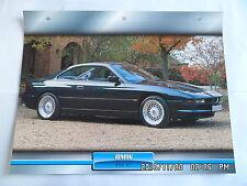 CARTE FICHE VOITURES D'EXCEPTION BMW 840 CI