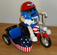 M&M's FREEDOM RIDER MOTORCYCLE Candy Dispenser Red/white/blue
