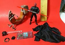 "Star Wars 3.75"" Darth Maul Sith Speeder Bike Custom Accessories Lot Robe Droid++"