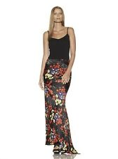 new RRP$1430 ROBERTO CAVALLI 100% SILK MERMAID MAXI SKIRT IT 46 12 14