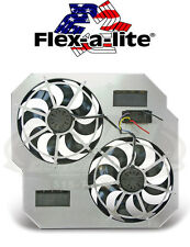 "Flex-A-Lite 264 Direct-Fit Dual 15"" Electric Fans 2003-2009 Dodge Ram 5.9 Diesel"