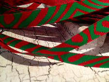 "3/8"" CHRISTMAS RED AND GREEN ZEBRA Grosgrain Ribbon sold by the yard"