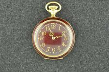 BEAUTIFUL VINTAGE 0S WALTHAM SEASIDE 14K SOLID GOLD AND ENAMEL POCKET WATCH